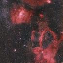 Lobster Claw - Bubble nebula and neighbors - HaLRGB,                                  Paul Schuberth