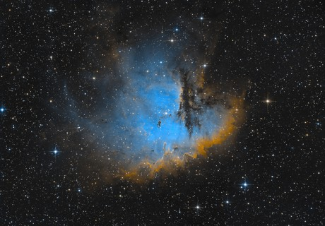 NGC281 (Pacman Nebula) in SII, Ha and OIII,                                Peter Folkesson