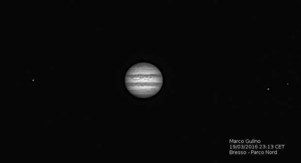 Jupiter with satellites,                                Marco Gulino