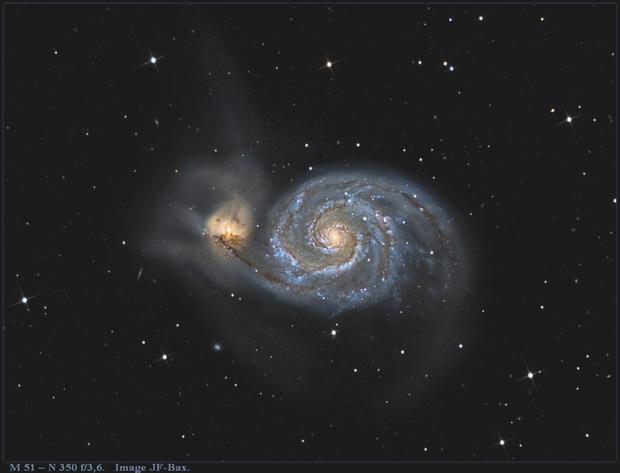 M 51- High resolution and deep field with Newton 350,                                Jeffbax Velocicaptor