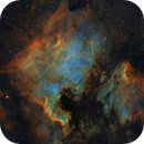 NGC7000 and IC5070 in HST palette,                                Gordon Haynes