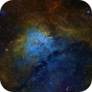 NGC 6820 and NGC 6823 SHO,                                Christer Strandh