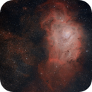Lagoon Nebula Head to Foot OSC with L-eXtreme Filter,                                CarlosAraya