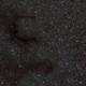An E in the Sky - Barnard 143 in Aquila,                                vchari252
