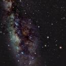 Dark Horse of Milky Way watching conjunction Antares Saturn Mars,                                Lorenzo Palloni