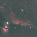 IC 434 Horse Head Nebula-NGC 2024 Flame Nebula-Ha-HOO-Meade 80 ED triplet-Orion flattener-ASI 1600-MM-Pro,                                Adel Kildeev