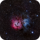 M20 - The Triffid Nebula - this time with a mono camera and LRGB.,                                Patrick Cosgrove