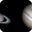 Saturn and Jupiter with Orion SkyQuest XX14g GoTo Truss Tube Telescope,                                Ray's Astrophotog...