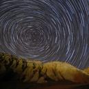 Startrails at Capadocia,                                Ahmet Kale