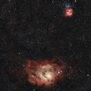 M8 - Lagoon Nebula and M20 - Trifid Nebula from the city,                                Sektor