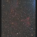 IC59 & IC63 - Nébuleuse du Fantôme (Version cropée) - 14 & 15 Nov 2018,                                dsoulasphotographie