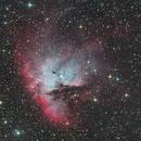 NGC281 The Pacman Nebula RGB Ha OIII,                                jimww