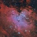 Messier 16 - Dslr Data mixed with Ha Data,                                Teagan Grable