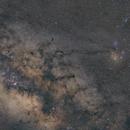 Milky Way and Nebulae in Sagittarius, Ophiuhus and Scorpius (wide-field),                                Dzmitry Kananovich