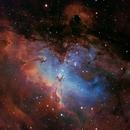 M16 with RGB stars,                                Ben