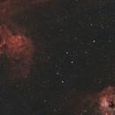 IC405 and IC410 The Flame and Tadpole Nebulae,                                Elmiko