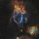NGC 7635-Bubble Nebula wide field-SHO,                                Valentin