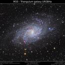 M33 - Triangulum Galaxy LRGBHa,                                Brice Blanc