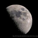 Moon /  Waxing Cres 55proc 8days,  20july 2018,                                Peter Juhlin