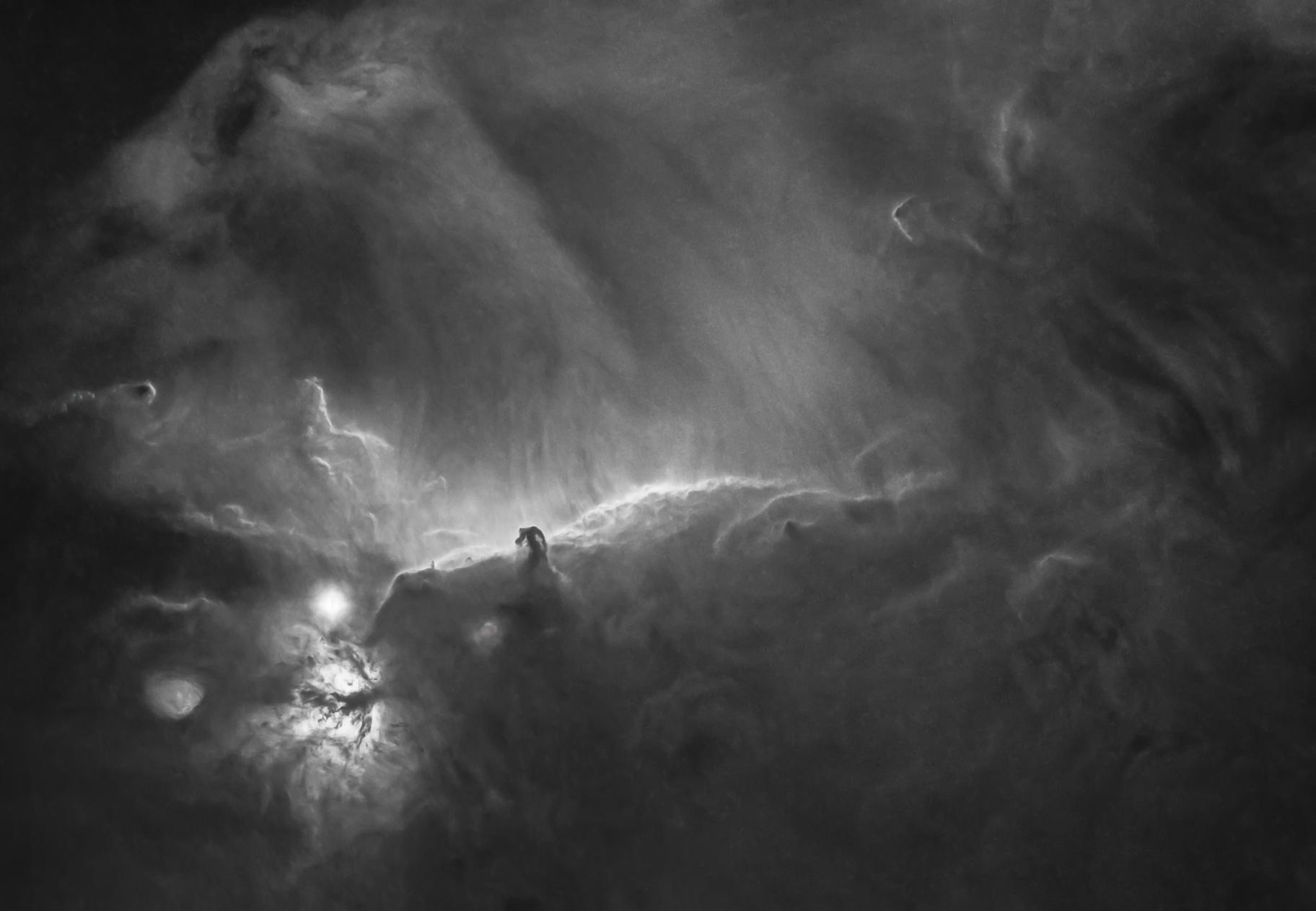 Epic dust and gas clouds in the Horse Head Nebula,                                Tristan Campbell