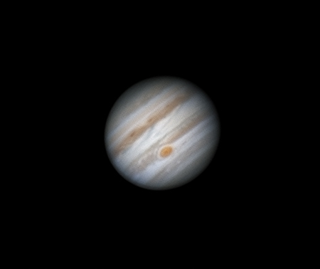 Jupiter: early attempts with new planetary camera,                                Darren (DMach)