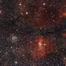 Campo de M 52  y  NGC 7635 (Nebulosa de la Burbuja),                                Alberto Pisabarro