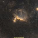 Horsehead and Flame Nebula (wide angle),                                jprejean