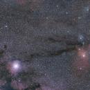 Grand champ autour d'Antarès et Jupiter au 50mm (Antares wide field),                                Laurent3112