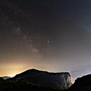 Milky way in light pollution,                                Miroslav Horvat