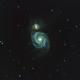 M51 - Whirlpool Galaxy on Edge HD 1100 at F7,                                George C. Lutch