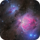 Great Orion Nebula M42 in LRGB - stacked and calibrated in APP,                                Steve Milne