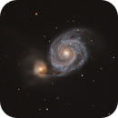 M51, Whirlpool-Galaxie,                                Martin Luther