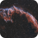 Eastern Veil nebula and the Bat - NGC6995 and IC1340 - 2 shot mosaic,                                Arnaud Peel