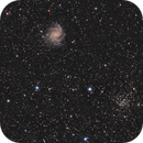 Fireworks Galaxy and the Ghost Bush Cluster,                                Colm O'Dwyer