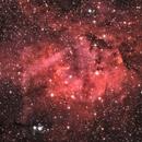 sh2-132 Heart of the Lion (Lion Nebula crop),                                photonjunkie