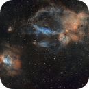 Bubble Nebula Region Widefield Mosaic (2x2),                                Phil Brewer