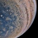 Jupiter on NASA Juno Perijove 28,                                sergio.diaz