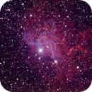 "IC 405 (The ""flaming star"" nebula) with 12"" ODK and Canon 5D,                                Luigi Fontana"