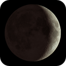 First Quarter Moon with Earthshine,                                WAskywatcher