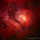M8 - The Lagoon Nebula,                                Fred Bagni