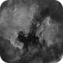 Quick mosaic of NGC7000 and IC5070 in Ha,                                Lee