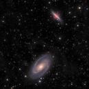 M81 & M82 + IFN in HαLRGB,                                Brent Newton