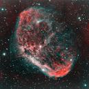 Crescent Nebula - HOO palette,                                David Johnson