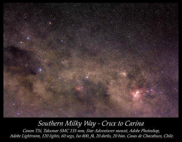 Southern Milky Way - Crux to Carina,                                Daniel Muñoz Luna