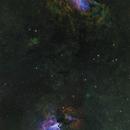 M16 Eagle Nebula and M17 Omega Nebula - Hubble-Palette,                                equinoxx