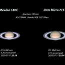 Saturn 2020-07-11. RGB. RGB. Comparison of Mewlon 180C with Intes Micro 715 DeLuxe,                                Pedro Garcia