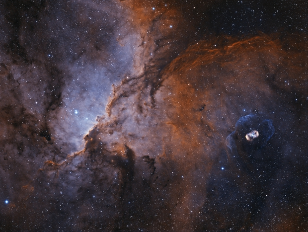 NGC6188 and NGC6164/5,                                Jerome Barkhan