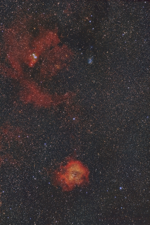 Rosette and Cone Nebula Widefield,                                Arno Rottal