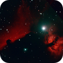 Horsehead and the Flame Nebula - First Outing,                                psychwolf