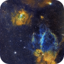 Lobster Claw - Bubble nebula and neighbors-SHO,                                Paul Schuberth